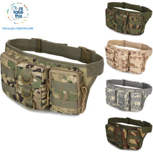 Tactical Waist Pack - Bum Bag 5 Tactical colors