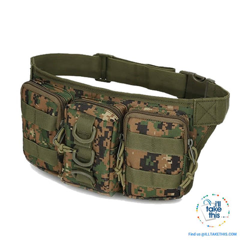 Image of Tactical Waist Pack - Bum Bag 5 Tactical colors - I'LL TAKE THIS