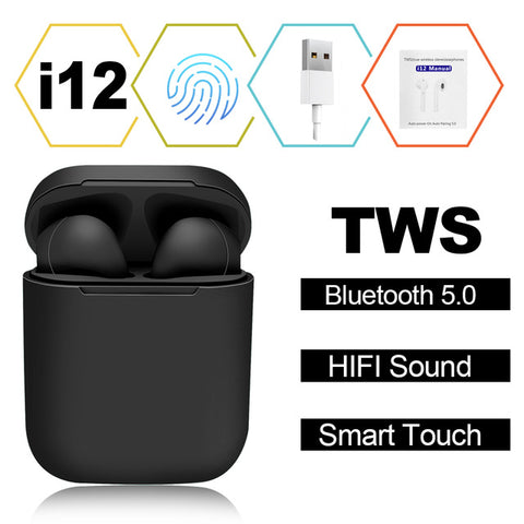 Image of Wireless Earbuds with Touch Key and Mic, Suits iPhone, Android or any Bluetooth Smartphones