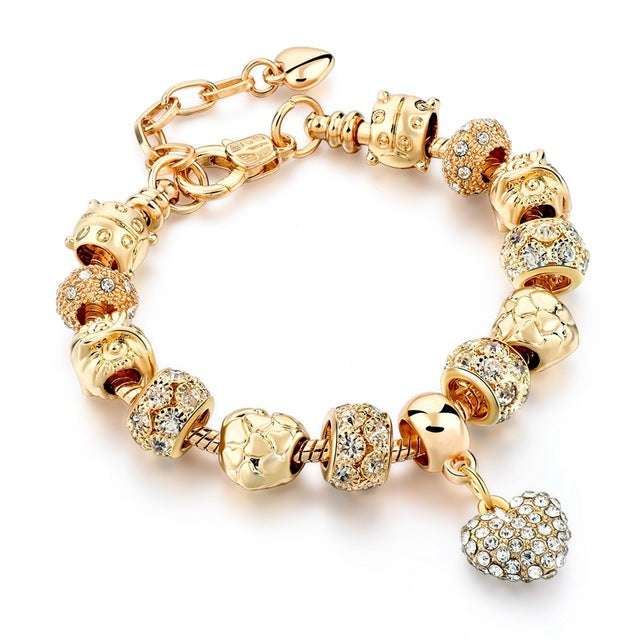 Luxury Crystal Heart/Charm Gold Bracelets For Women fashionable Jewelry - I'LL TAKE THIS