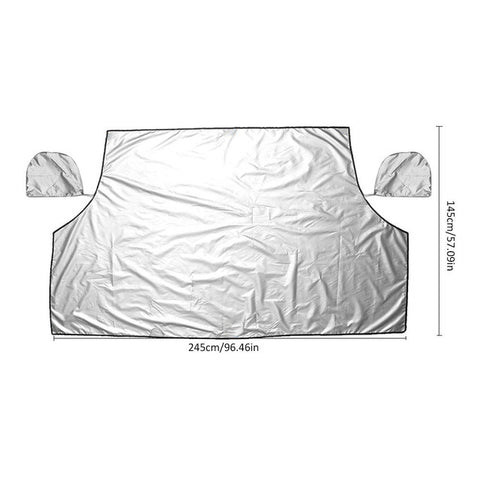 Image of The Zone Barrier EXTRA Large Windshield Ultimate Protection from Snow, Ice or Sunshade  with Rearview Mirror Cover - I'LL TAKE THIS