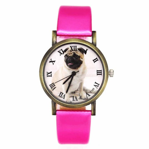 Image of Pug Pet Dog Women's Casual Fashion Silicone Band Watchband Wrist Watch - I'LL TAKE THIS