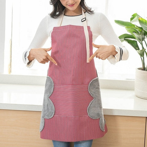 Image of Waterproof adjustable Aprons heavy-duty cotton, convenient Super absorbent side hand wipe cloths - I'LL TAKE THIS