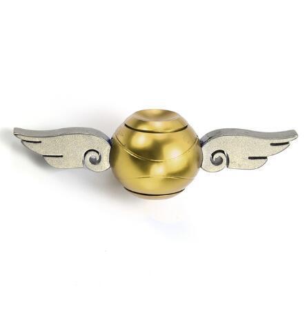 Image of Cupid Fidget Spinner Gold Finger - Metal Brass Fidget Spinner Blue Metal Hand Spinner Stress fidget Classic Toys - I'LL TAKE THIS