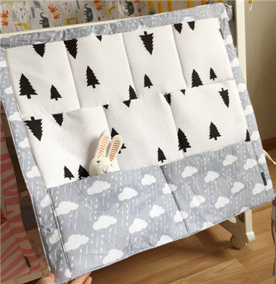 "Baby Cot Bed Hanging Storage Bag Organizer. Toy Diaper Pocket for Crib Bedding Set - Size 60 x 50cm / 23.6""  x 19.7"" - I'LL TAKE THIS"