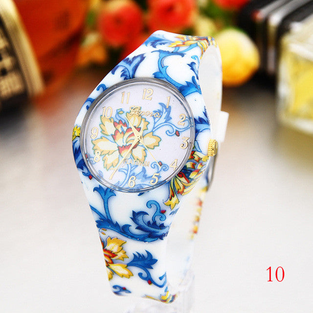Women's Silicone Printed Designer style Rubber Band Watch - Analog Fashion wristwatch - I'LL TAKE THIS