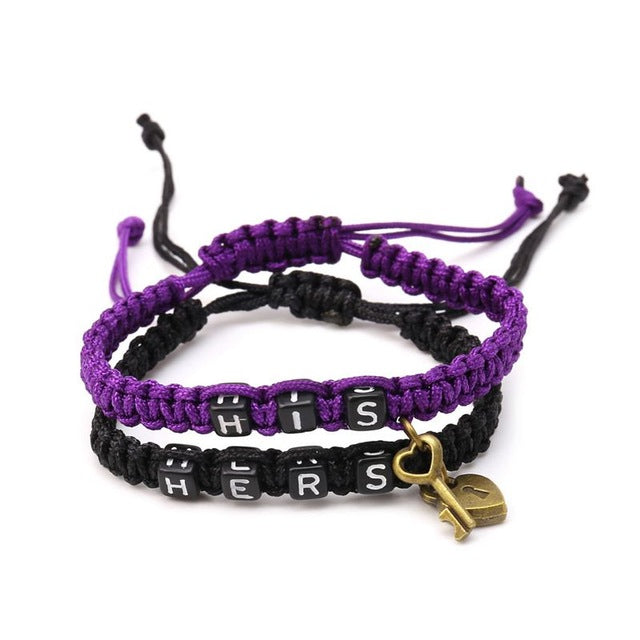 Couples Bracelet His/Hers Matching Jewelry Lovers Boyfriend Girlfriend Braid in 6 Color Options - I'LL TAKE THIS