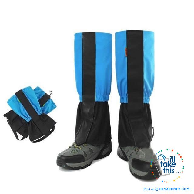 Water resistance leg protectors for your next Outdoor venture, suits Show, Camping and Hiking or next Fishing trip - I'LL TAKE THIS
