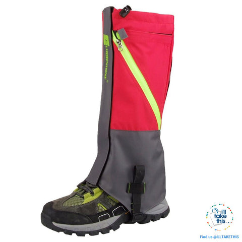 Image of Waterproof Camping, Hiking Snow Leg Gaiters, 2 Layers of protection - 4 Color Options - I'LL TAKE THIS