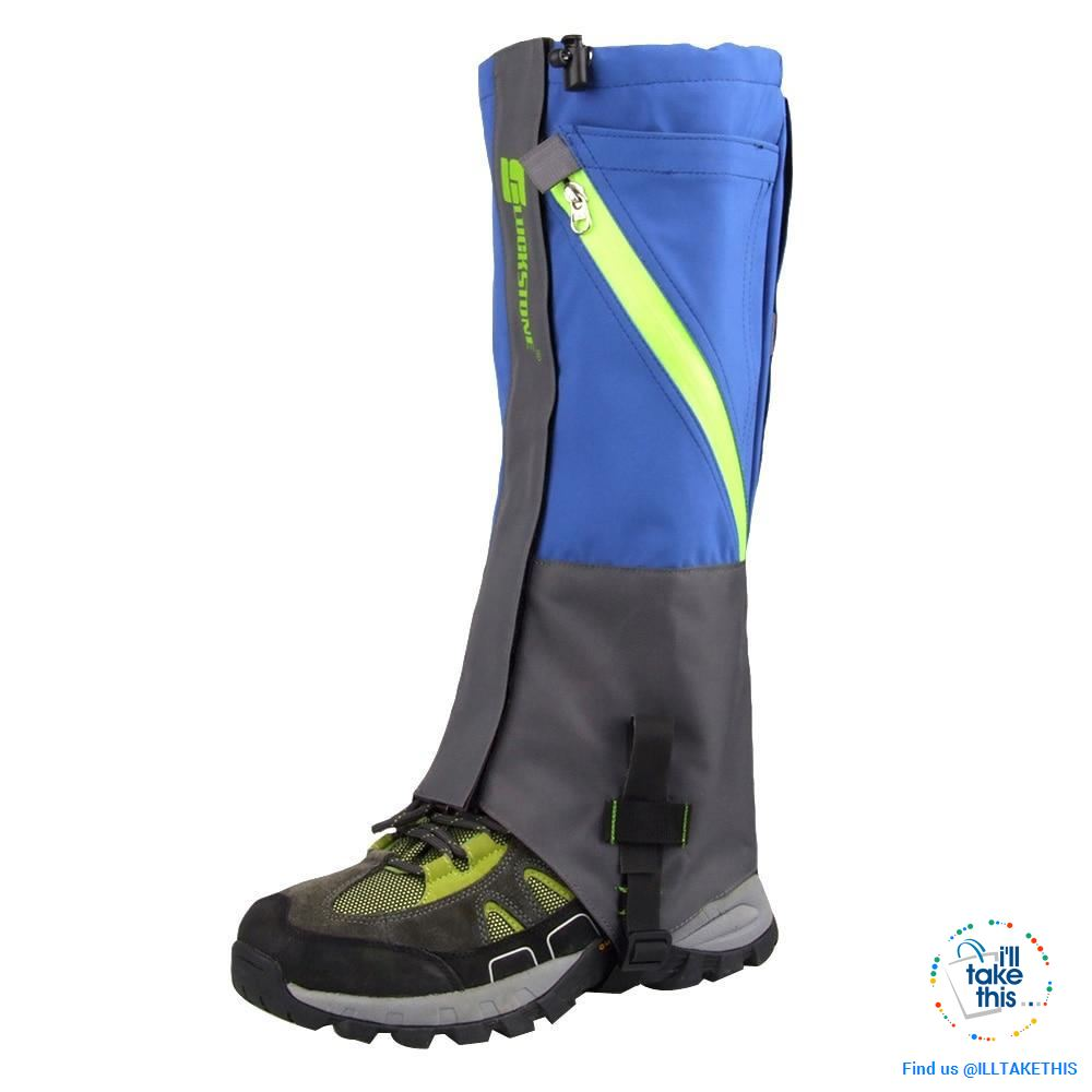 Waterproof Camping, Hiking Snow Leg Gaiters, 2 Layers of protection - 4 Color Options - I'LL TAKE THIS