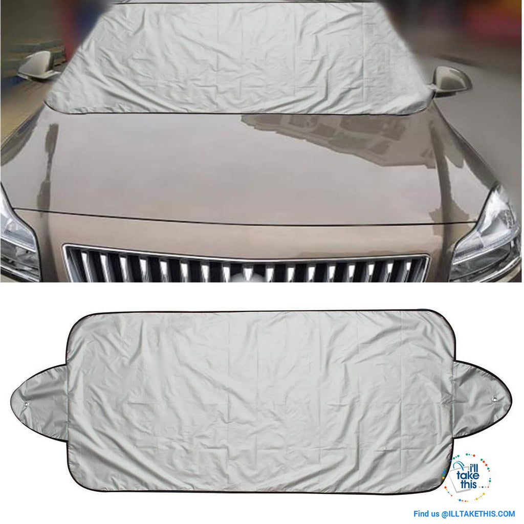 Windshield Cover Protector Help Prevent Snow/Ice & Sun Shade, Frost from Freezing Car's Windscreen - I'LL TAKE THIS