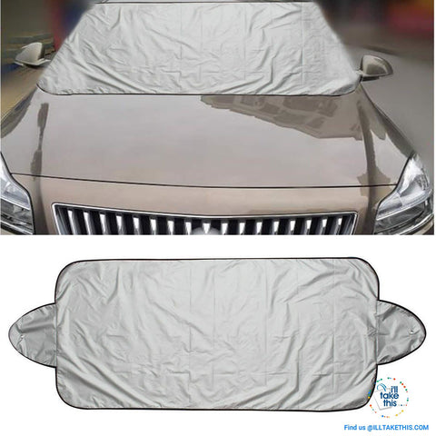 Image of Windshield Cover Protector Help Prevent Snow/Ice & Sun Shade, Frost from Freezing Car's Windscreen - I'LL TAKE THIS