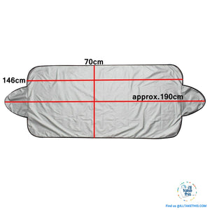 Windshield Cover Protector Help Prevent Snow/Ice & Sun Shade, Frost from Freezing Car's Windscreen