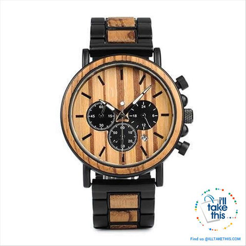 Image of Unique Wooden Watches with Date Display individually designed to impress - I'LL TAKE THIS