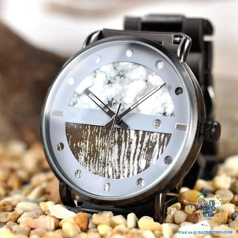 Image of Wood Metal Men's and Women's Luxury style Watches, the Ultimate Timepieces with date display - I'LL TAKE THIS