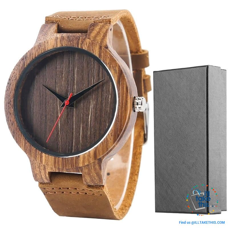 Minimalist Handmade Women's/Men's Ultra sleek Style Wooden Watches, all Gift Boxed - 3 Colors - I'LL TAKE THIS