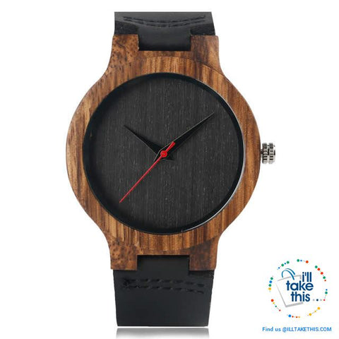 Image of Minimalist Handmade Women's/Men's Ultra sleek Style Wooden Watches, all Gift Boxed - 3 Colors - I'LL TAKE THIS