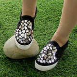 Fashion Sneakers: Silver Pebbles & Black