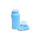 Silicone Foldable Water Bottle: Blue