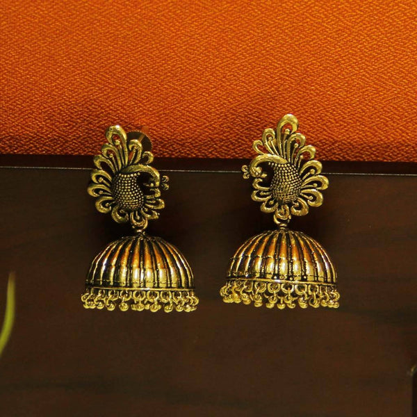 Oxidized Gold Plated Handmade Jhumka
