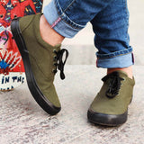 Funky Casual Lace Up Sneakers for Men : Olive