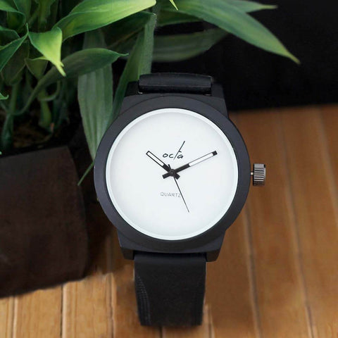 Octa Time Juno Series: Silicone Black Watch