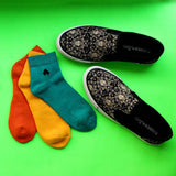 Slip On Sneakers (Baroque) & Pack of 3 Socks for Men