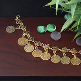 Oxidized Gold Coin Bracelet