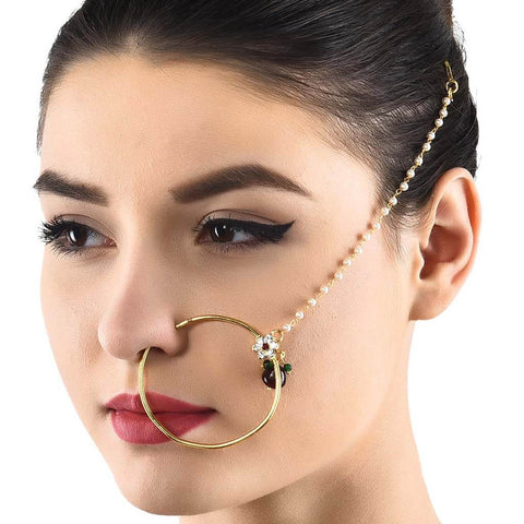 Multicolor Kundan Nose Pin