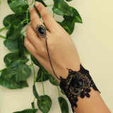 Black Lace Bracelet & Ring