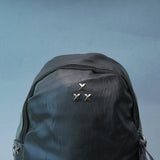 Solid Backpack with rivet detailing