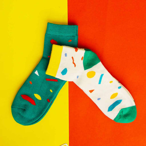 Pack of 2 Socks (Unisex): Party Pop Collection II