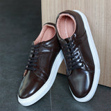 Men's Brown Perforated Sneakers