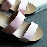 Peach Slip-on Wedges