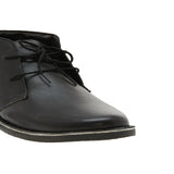 Paris Black Men's Leather Mid-top Boots
