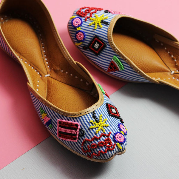 Quirky Bead Work Nautical Juttis