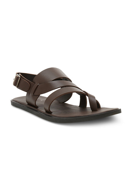 Amalfi Brown Men's Leather Sandals