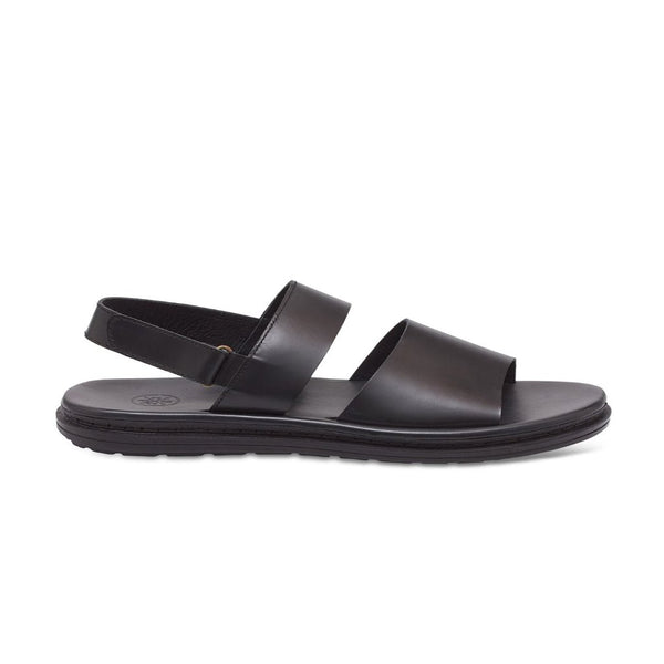 Alps Black Men's Leather Sandals