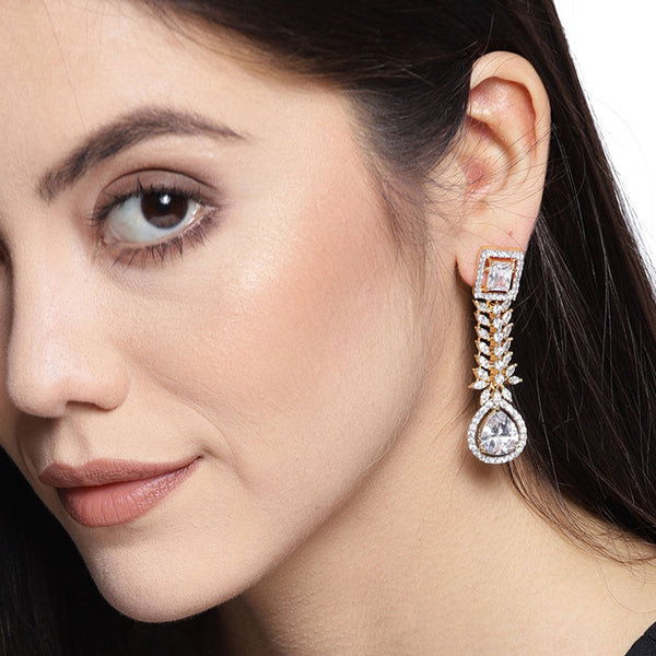 Crystal Studded Cocktail Earrings