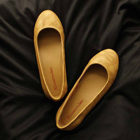 Beige Formal Ballerinas