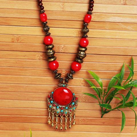 Handmade Tribal Beads Necklace for Women