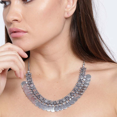 Silver Alloy Necklace
