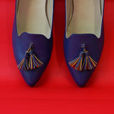 Blue Ballerinas With Tassels