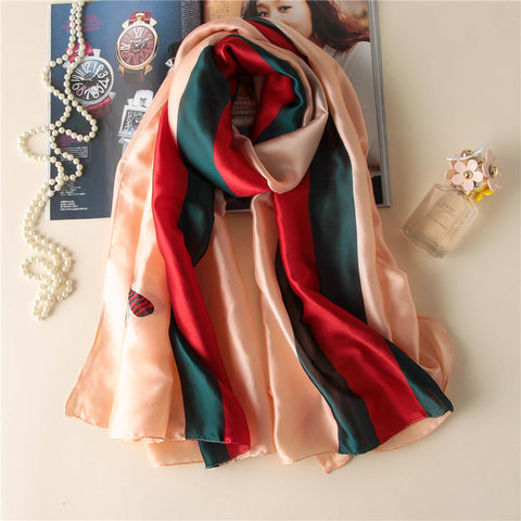 Stripe Printed Peach Scarf
