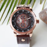 Expedator Leather Chrono Men's Watch