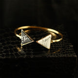 Gold Bracelet with Triangular shape stones