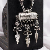 Tribal Figurines Silver Tone Necklace