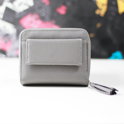 Solid Mini Wallet With Tassel