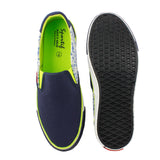 Sportif Navy Lime Classis1.1 Slip On Sneakers