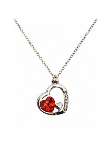 Chica Fashion Jewellery by Fizz: Valentine Hearts Red Pendant